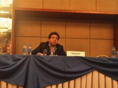 Estrategias y herramientas de investigación a cargo de Nelson Shack (Perú), Giannina Segnini (Costa Rica) y Paul Radu (Rumania)