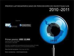 Hoy se conocen ganadores del Premio Latinoamericano de Periodismo de Investigación